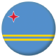 Aruba Country Flag 25mm Flat Back